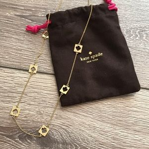 LIKE NEW kate spade long gold necklace